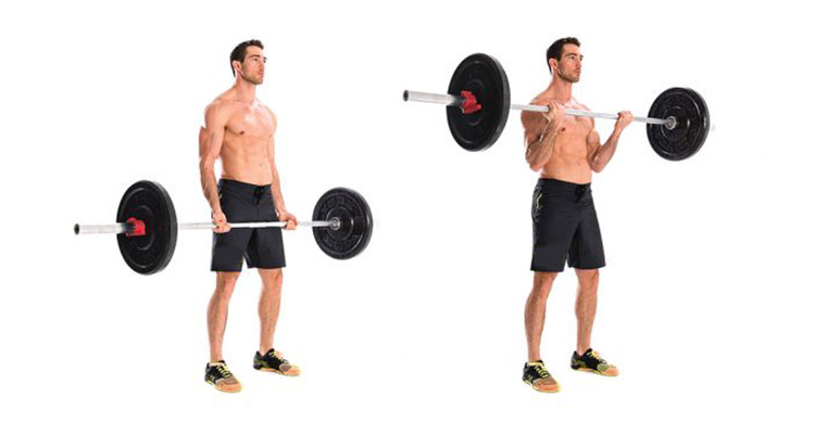 Barbell curl for increased resistance