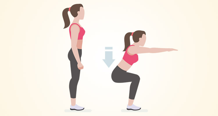 The right posture to do the squats